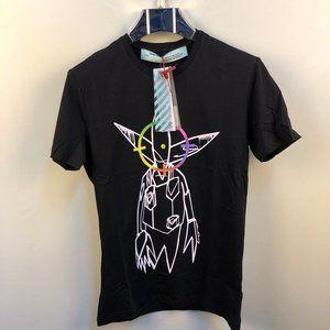 Off-White Allien Printed Men Black T-Shirt